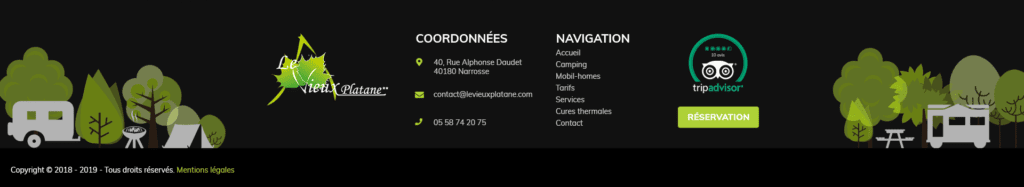 Footer Camping Le Vieux Platane