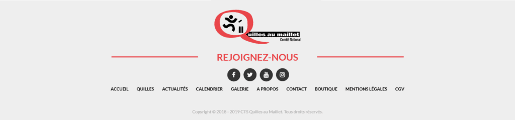 Footer quilles au maillet
